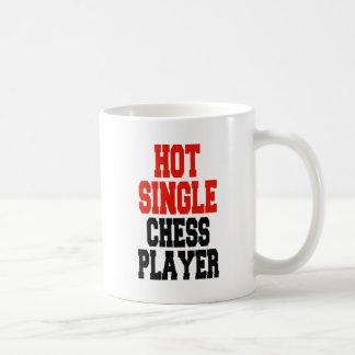 Hot Single Chess Player Basic White Mug