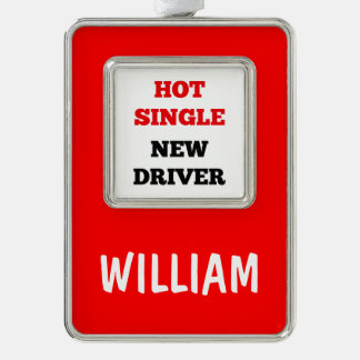 Hot Single New Driver Silver Plated Framed Ornament