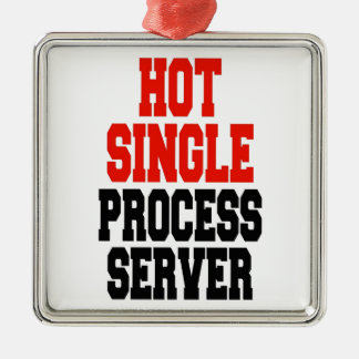 Hot Single Process Server Metal Ornament