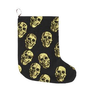 Hot Skulls,eggshell Large Christmas Stocking