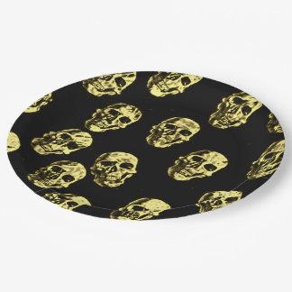Hot Skulls,eggshell Paper Plate