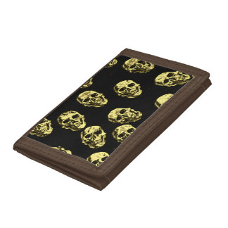 Hot skulls,eggshell tri-fold wallets