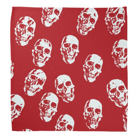 Hot Skulls,red white Bandana