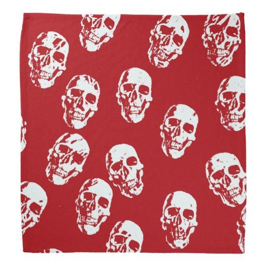 Hot Skulls,red white Head Kerchiefs