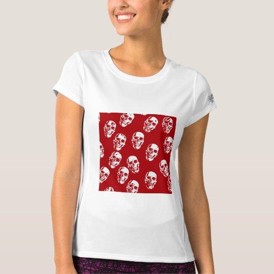 Hot Skulls,red white T-Shirt