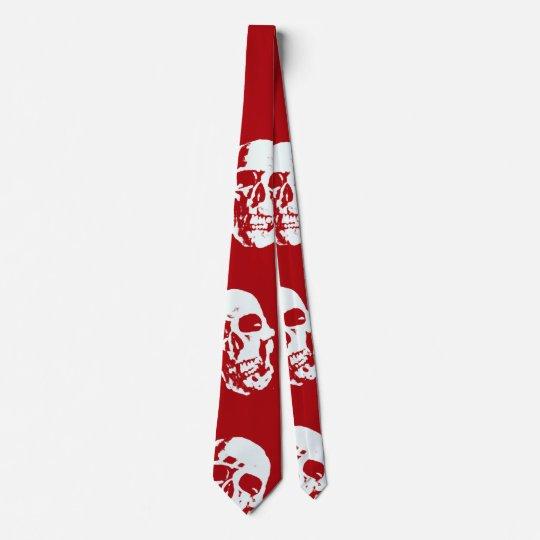 Hot Skulls,red white Tie
