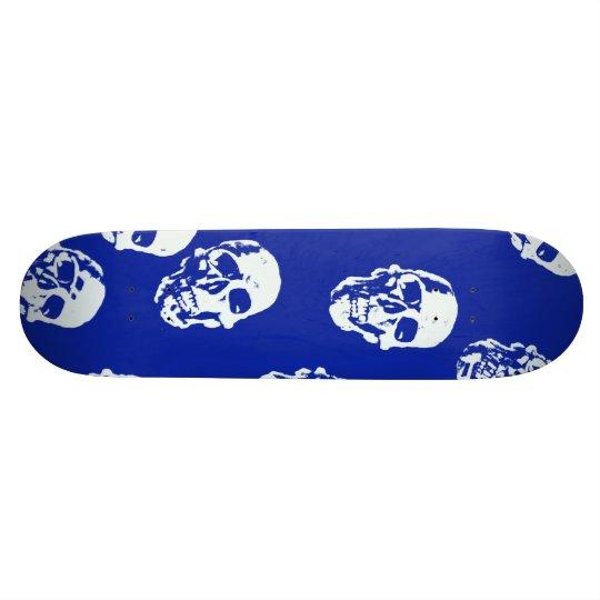 Hot Skulls,white 20.6 Cm Skateboard Deck
