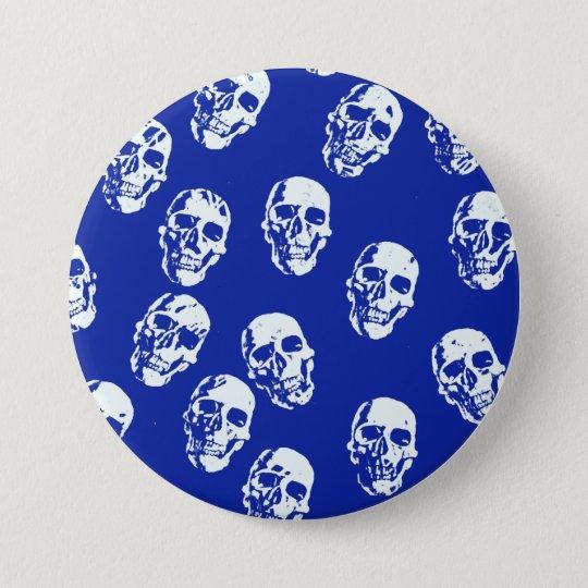 Hot Skulls,white 7.5 Cm Round Badge