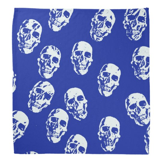 Hot Skulls,white Bandannas