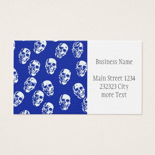 Hot Skulls,white Business Card
