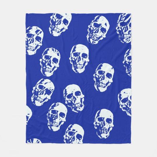 Hot Skulls,white Fleece Blanket