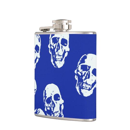 Hot Skulls,white Hip Flask