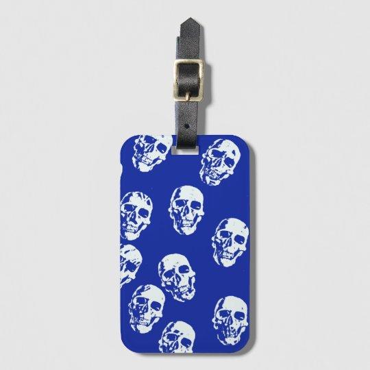 Hot Skulls,white Luggage Tag