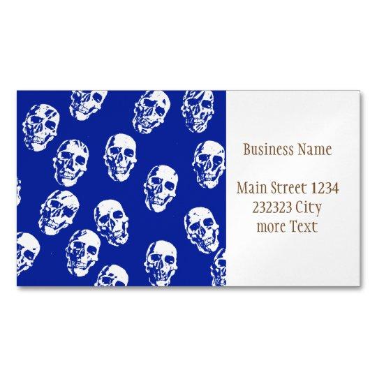 Hot Skulls,white Magnetic Business Cards