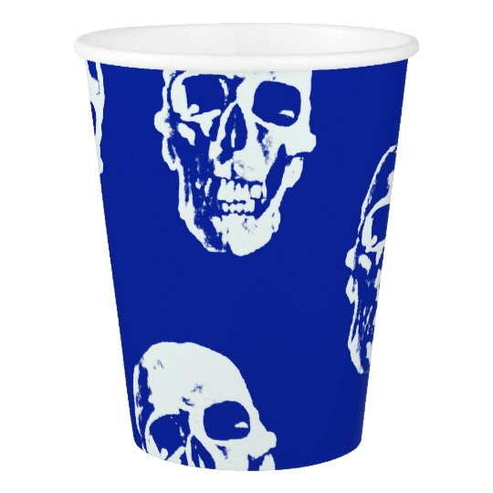 Hot Skulls,white Paper Cup