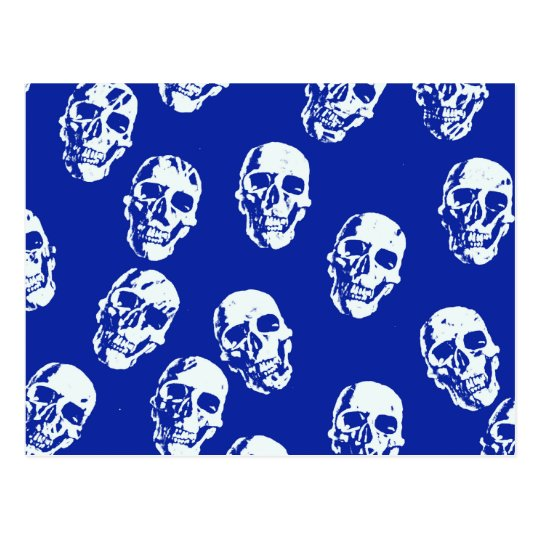 Hot Skulls,white Postcard