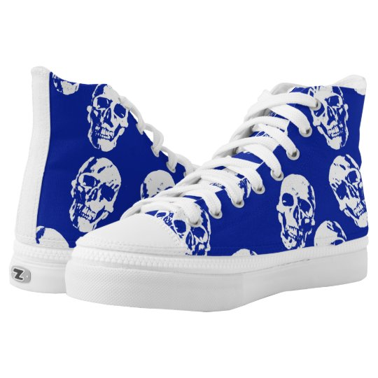 Hot Skulls,white Printed Shoes