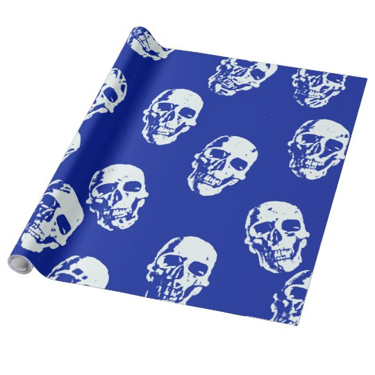 Hot Skulls,white Wrapping Paper