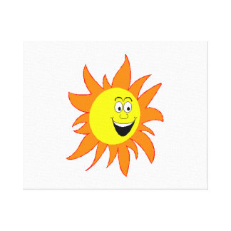 Hot Smiling Sun Gallery Wrap Canvas