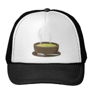 Hot soup vector cap