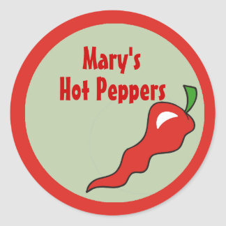 Hot Spicy Colors and Red Pepper Labels