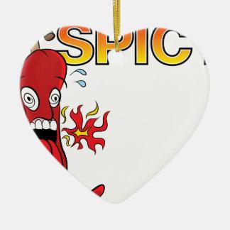 Hot Spicy Red Chili  Pepper Cartoon Ceramic Ornament