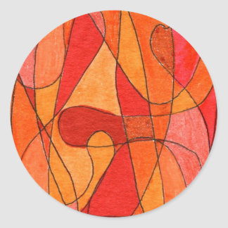 """Hot Spot"" Abstract Design Sticker"