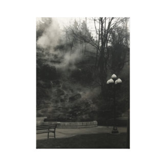 Hot Springs AR black and white photo Canvas Print