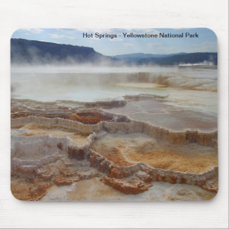 Hot Springs in yellowstone national park USA Mouse Pad