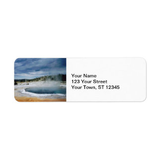 Hot Springs- Yellowstone Return Address Label