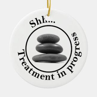 Hot Stone Massage Do Not Disturb Round Ceramic Decoration