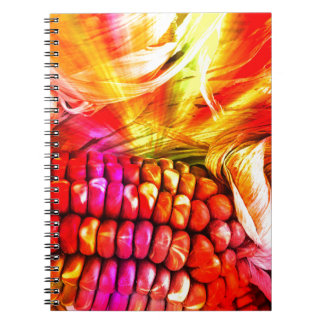 hot striped maize notebooks