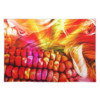 hot striped maize placemat