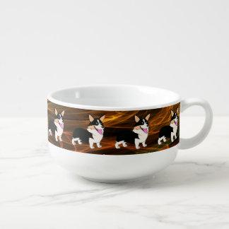 Hot Stuff Welsh Corgi Soup Mug