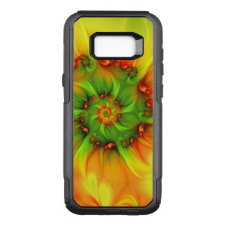 Hot Summer Green Orange Abstract Colorful Fractal OtterBox Commuter Samsung Galaxy S8+ Case