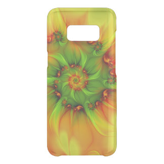 Hot Summer Green Orange Abstract Colorful Fractal Uncommon Samsung Galaxy S8 Case