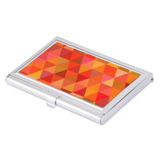 Hot sun triangles business card holder