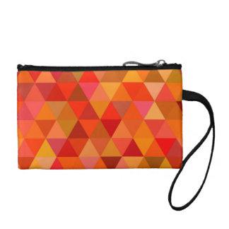 Hot sun triangles coin purse