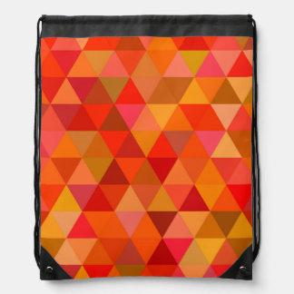 Hot sun triangles drawstring bag