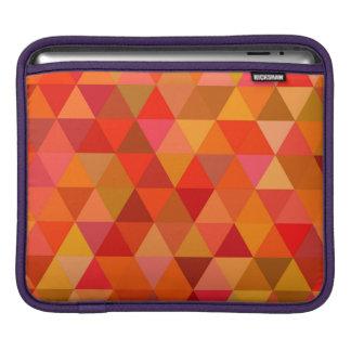 Hot sun triangles iPad sleeve