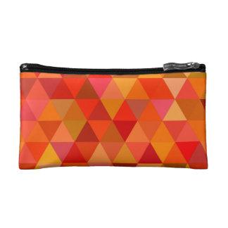 Hot sun triangles makeup bag