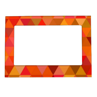 Hot sun triangles photo frame magnet