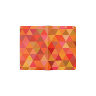 Hot sun triangles pocket moleskine notebook