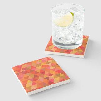 Hot sun triangles stone beverage coaster