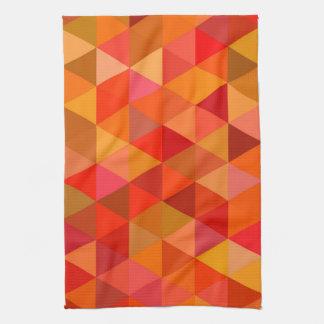Hot sun triangles tea towel