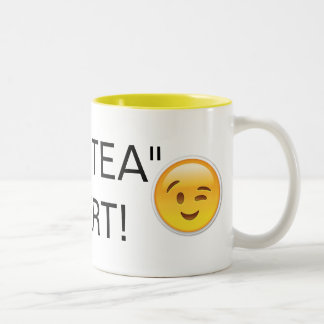 "Hot Tea ""HOTTIE"" Alert Two-Tone Coffee Mug"