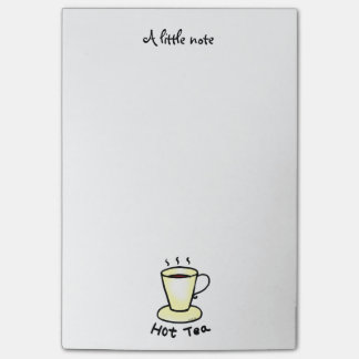 hot tea post-it notes