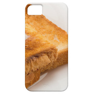Hot toast with butter on a white plate case for the iPhone 5