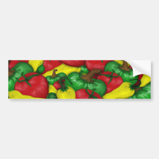 Hot Tomato Peppers Bumper Sticker