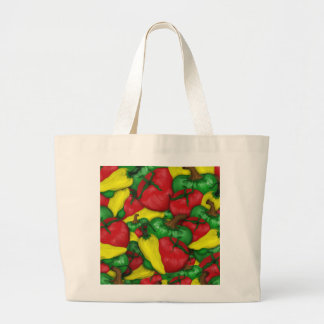 Hot Tomato Peppers Jumbo Tote Bag
